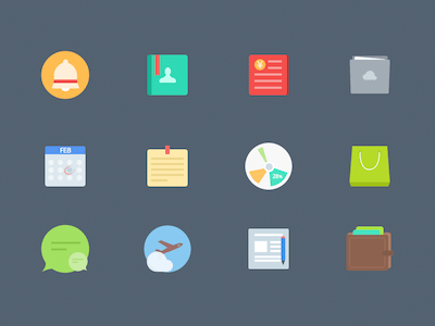 Colorful Flat Icons