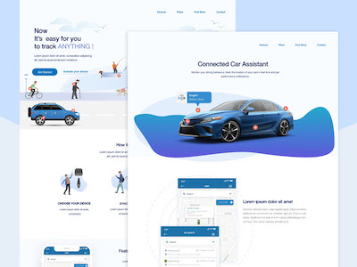 Connected Cars Landing Page
