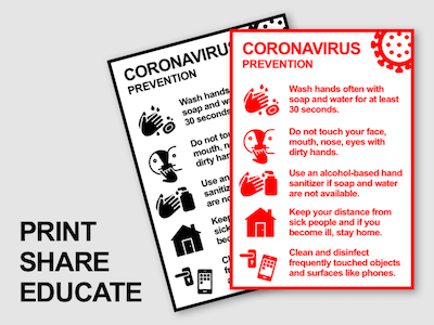 Coronavirus Flyer Public Warning