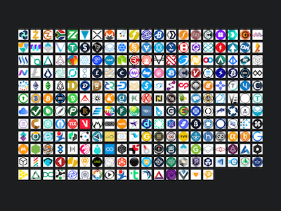 236 Cryptocurrency Icons and Logos