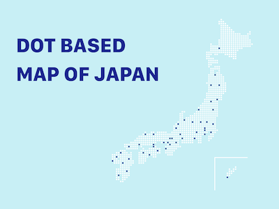 Custom Dotted Map of Japan