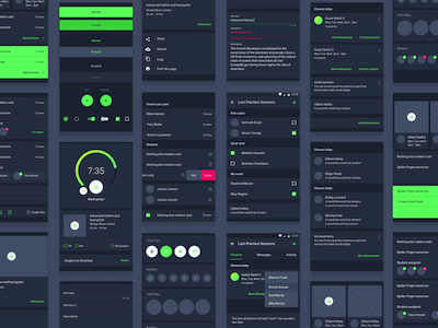 Material Dark UI Kit