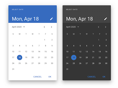 Date Picker Android Material Design
