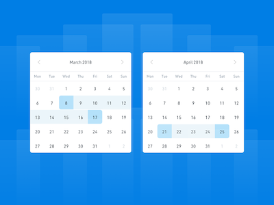 Simple Date Picker Calendar