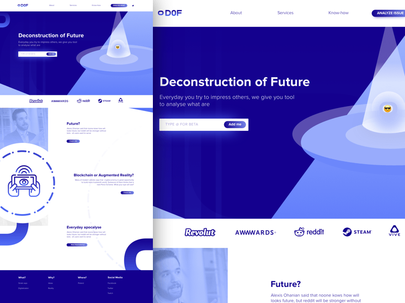 Deconstruct Landing Page