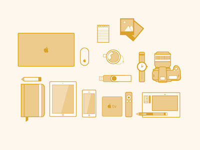 Devices - Line Illustration