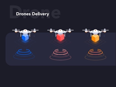 Drones Illustrations for Delivery App