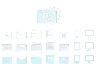 Dropbox Style Sketch Icons