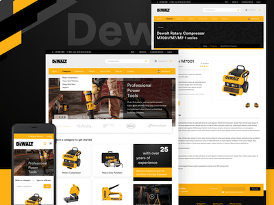 DeWalt Concept Ecommerce Website