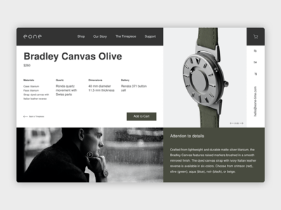 Eone Time Website Concept