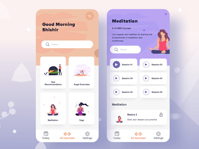 Exercise App Concept