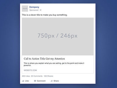 Facebook Desktop Ad Template