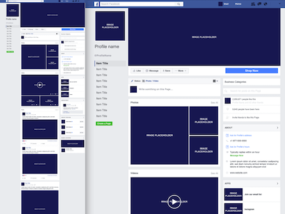 Facebook Business Page Template