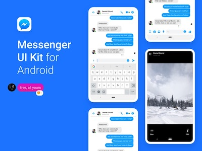 Android Facebook Messenger UI Kit