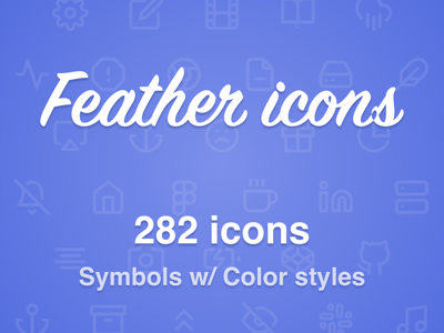 Feather Icons Symbols