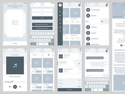 Field Wireframe Sample