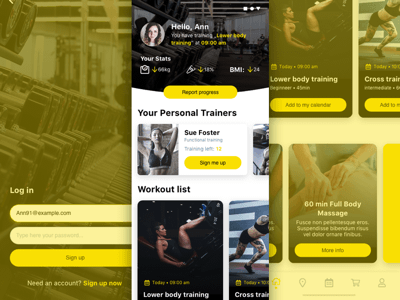 Simple Fitness App Concept