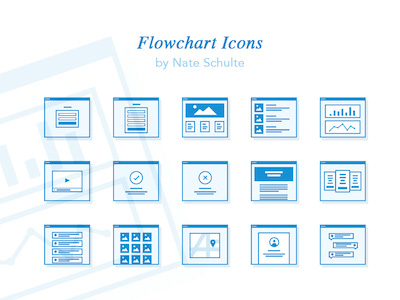 Flowchart Icon Set