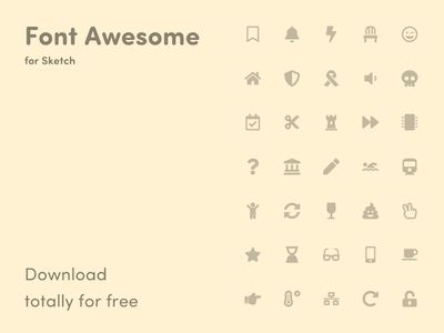 Font Awesome - Library for Sketch