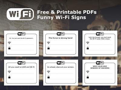 Free Wi-fi Printable Signs