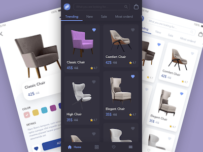 Furniture App Presentation Concept