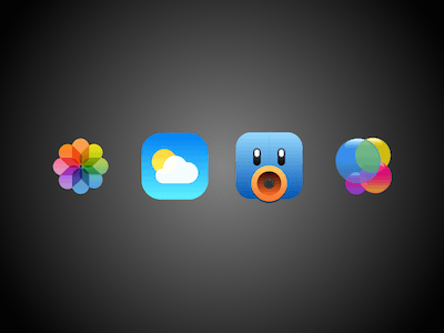 Game Center, Weather, Tweetbot and Photo Icons