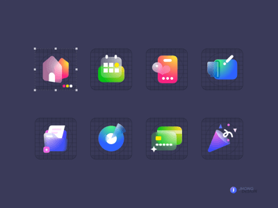 Glass Icons