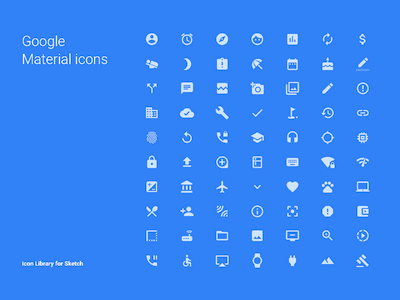 Google Material Icons Library