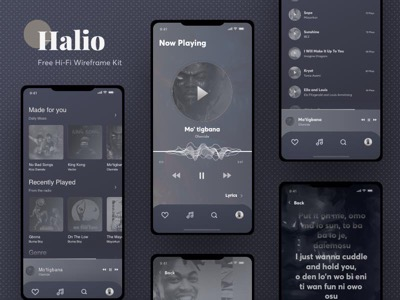 Halio Wireframing