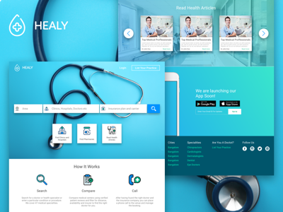 Healy Healthcare Landing Page