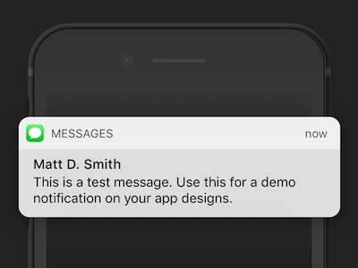 iOS 10 Message Notification