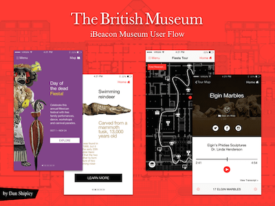 Museum App Concept with iBeacon Technology