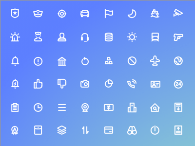 48 Bold Line Icons
