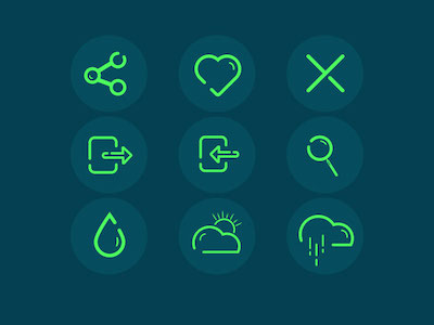 9 Green Icons