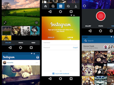 Instagram for Android UI