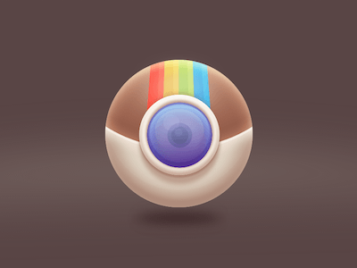 Instagram Sphered Icon Concept
