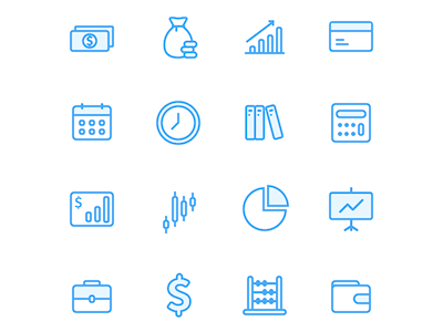 Investing Finance Icons