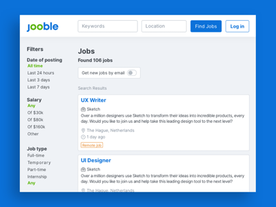 Jooble Job Search Template