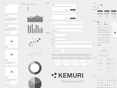 Kemuri Wireframe Kit