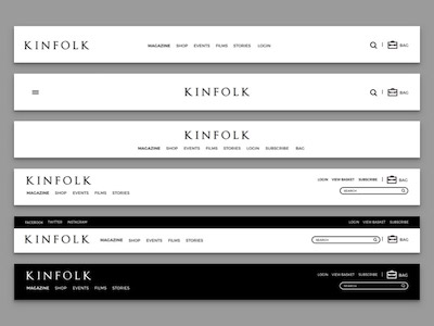 Kinfolk Magazine Header Variations
