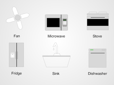 6 Kitchen Appliance Icons