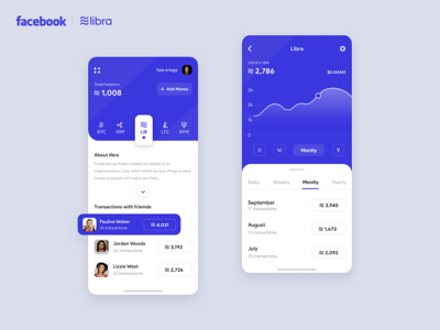 Libra Cryptocurrency App Concept
