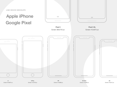 Line Mockups for iPhone and Google Pixel