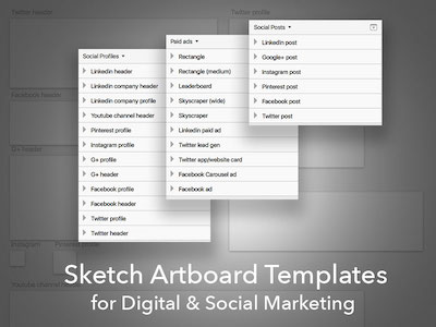 Artboard Templates for Social Marketing
