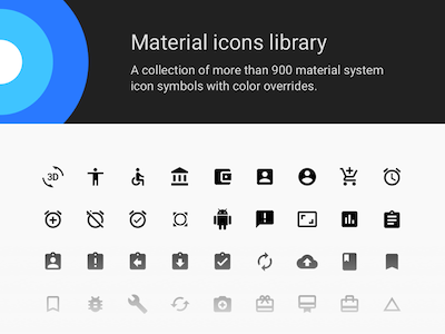 Material Icons Sketch Library