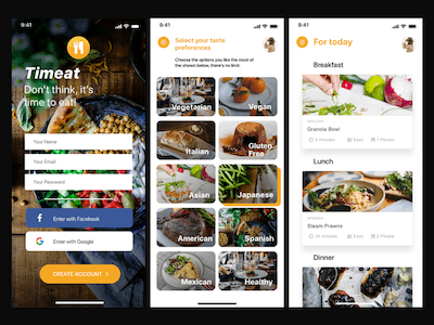 Meal Plan Concept App