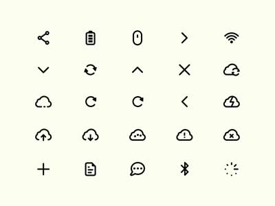 Mercury Icon Set