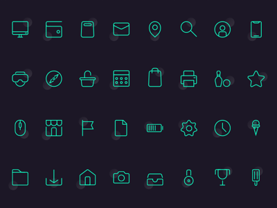 32 Basic Icon Set