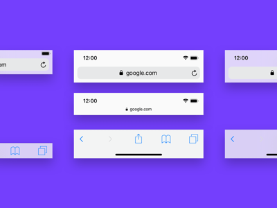 Mobile Browser Bars Mockup
