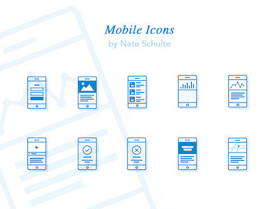 Mobile Icon Set
